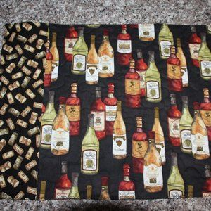 SET OF 4 PLACEMATS - Wine Bottles / Wine Corks-New